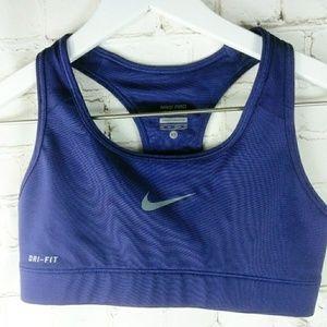 Nike Dri-Fit | Solid Purple Athletic Sports Bra